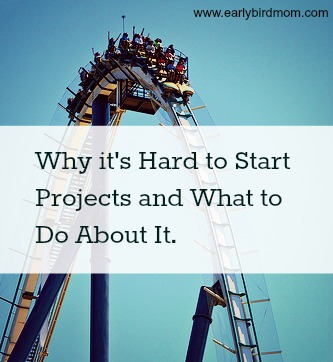 Why it's Hard to Start Projects and What to Do About It