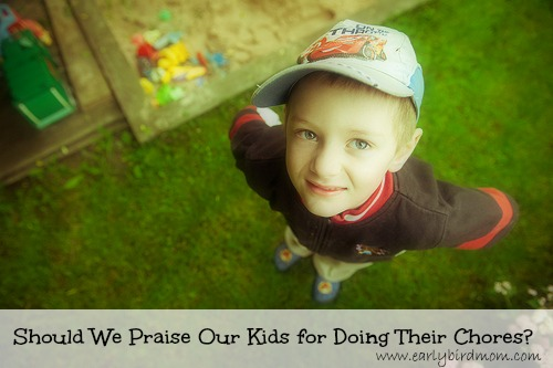 praising our kids for chores