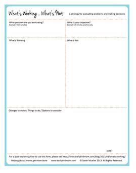 Printable decision-making form