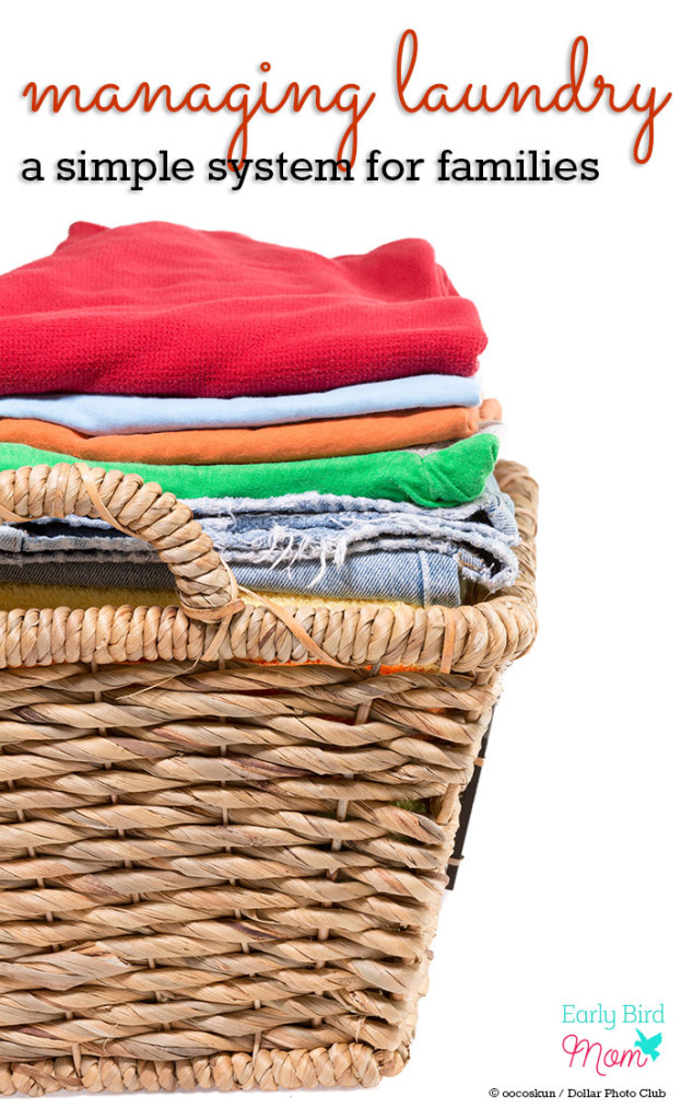 Laundry taking over your home? You need a system that works for your family! This post gives tips on how one family of 6 keeps the laundry under control. Love her ideas on organization.