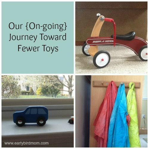 Our {On-going} Journey Toward Fewer Toys
