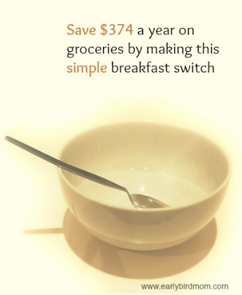 Save $374 a year on groceries by making this simple breakfast switch
