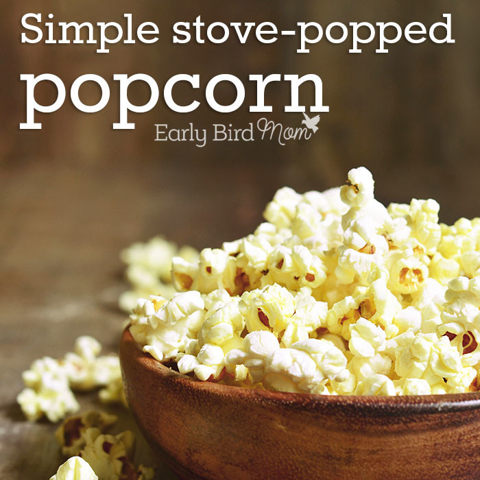 How to make stove popped popcorn.