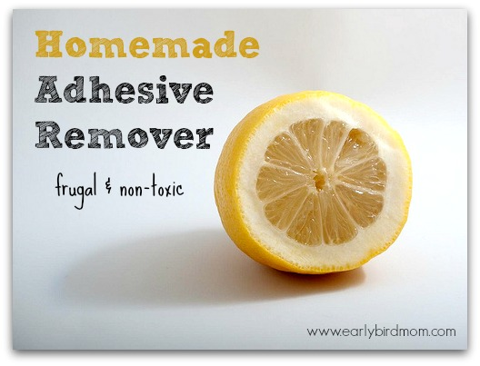 Homemade Adhesive Remover. Frugal and non-toxic
