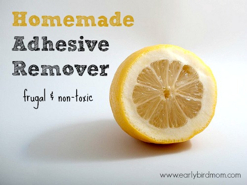 homemade adhesive remover frugal and non toxic. Black Bedroom Furniture Sets. Home Design Ideas