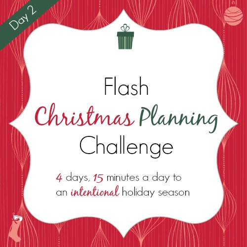 Christmas Planning Challenge Day 2