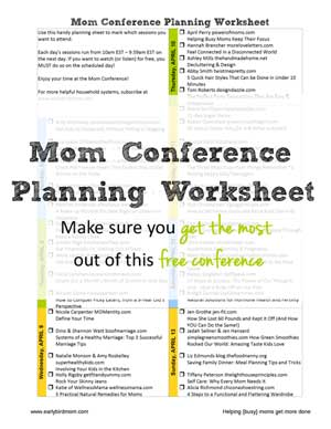 Mom Conference Planner