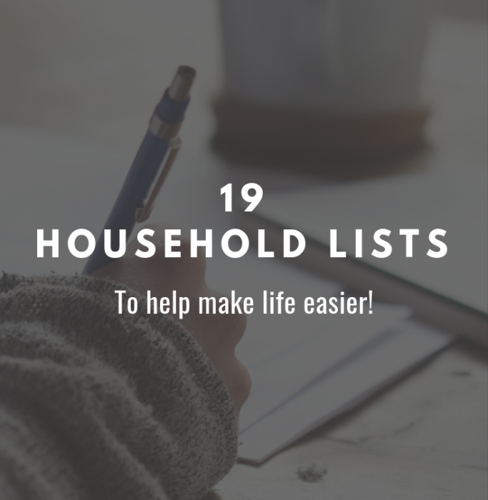 household lists