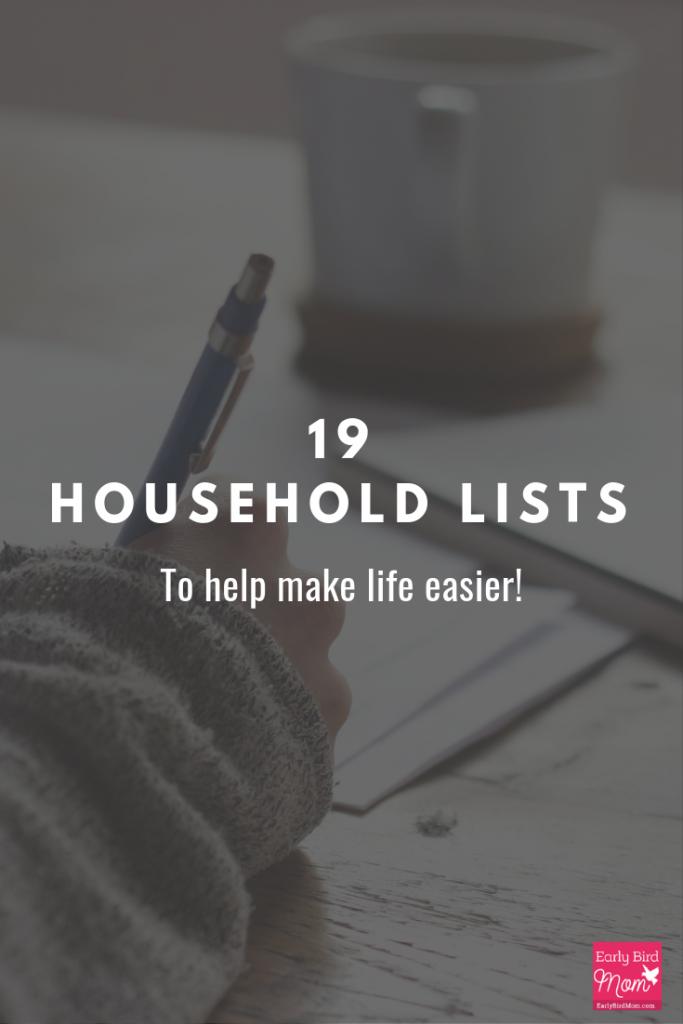 household lists