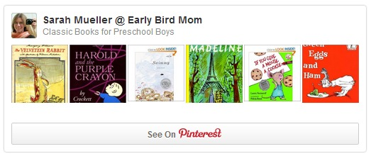 Classic books for preschool boys