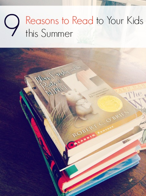 Reasons to Read to Your Kids This Summer. The ultimate summer boredom solution!