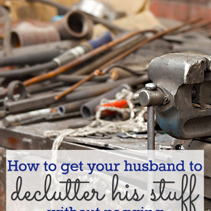 Now is the perfect time to declutter - so how do you get your husband on board? If you're a minimalist you may be tempted to get rid of his stuff, but this is exactly the wrong approach. The answer might surprise you.