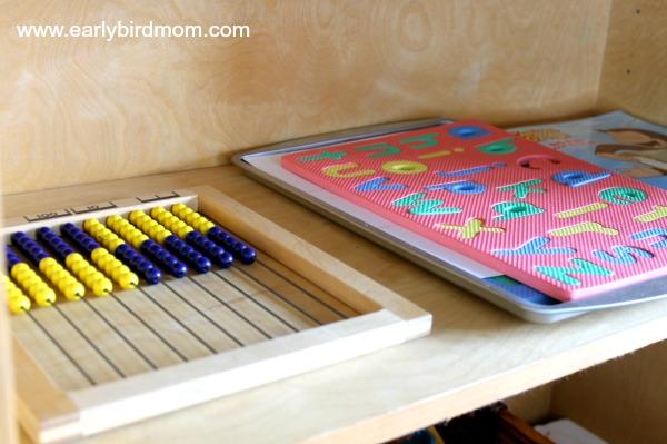 Homeschool Room Preschool Shelf
