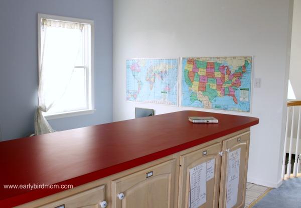 Homeschool Room Tour - Countertop