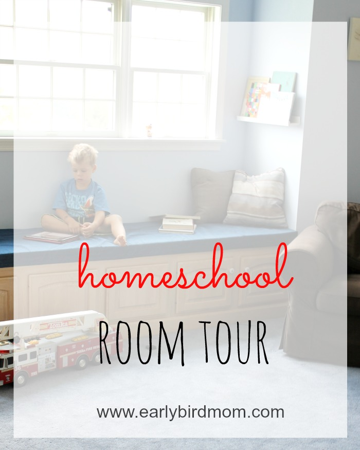 Have you ever wondered what a well-used homeschool room looks like? This room has tons of space for various homeschool activities and is used by 4 boys on a daily basis. Lots of great ideas on workspace, play spaces and organization here.