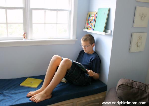 Homeschool room tour windowseat