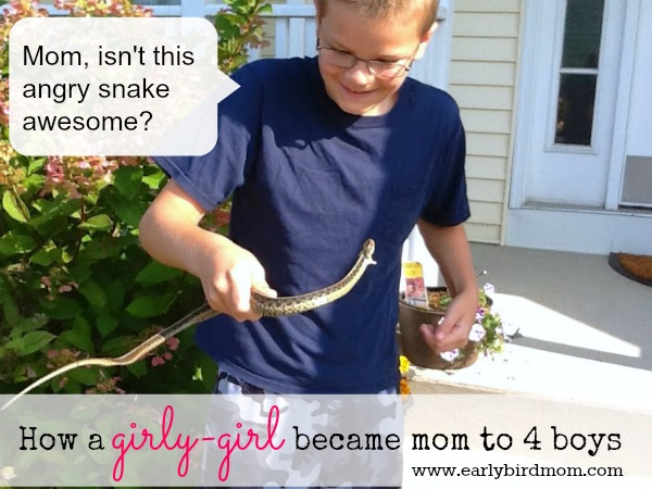 How a girly-girl became mom to 4 boys