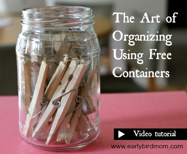 The Art of Organizing using Free Containers (video tutorial)