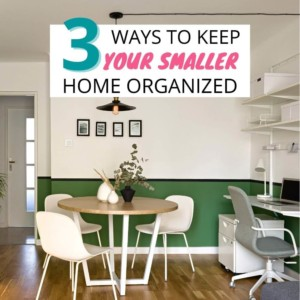 small house organization tips cover