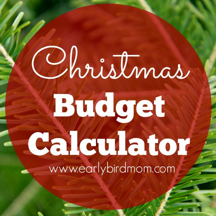 Interactive Christmas Budget Calculator