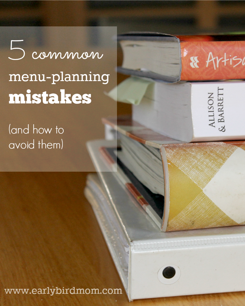 Menu-planning is meant to make your life easier! If you're new to menu-planning, make sure you avoid these common mistakes.