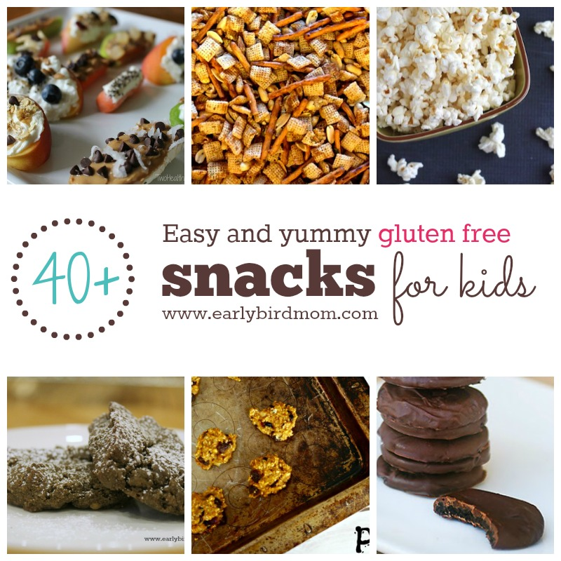 Do you ever get into a rut with the same gluten-free snacks for your kids? With this list of 40+ easy and yummy gluten-free snacks they'll always have something yummy to snack on.