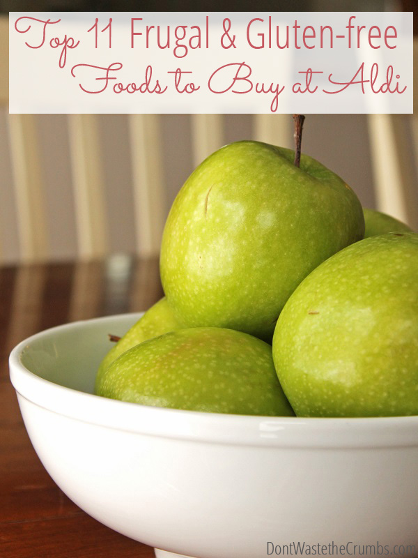 My top 11 picks of gluten-free foods, plus other allergy-friendly frugal foods to buy at Aldi to help keep my grocery budget under control & family healthy!