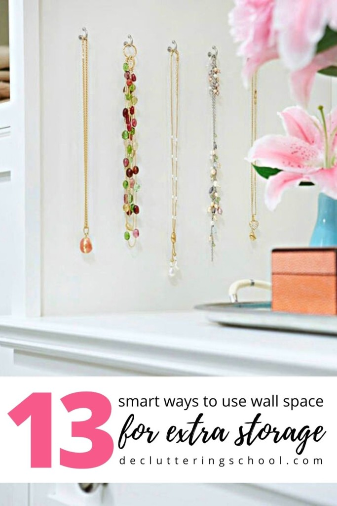 Go vertical with these creative storage ideas for small spaces. Wall storage is an often overlooked solution and an easy way to add more storage and DIY décor to your home at the same time.
