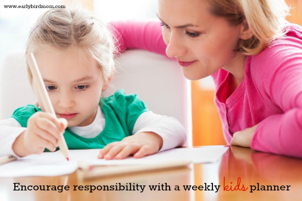 Encourage responsibility with a weekly kids planner (free printable!)