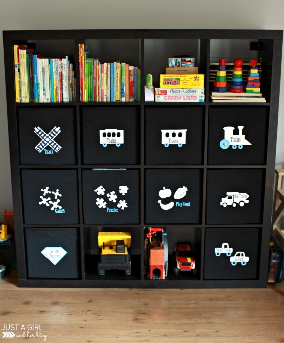 Living Room Organization toy clutter organized - 3 brilliant ways!