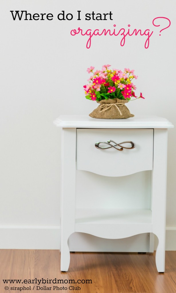 Where do I start organizing? If you want to organize your life or you've got ambitious plans to declutter your entire home, you need a plan. Learn how and where to start organizing with a few helpful ideas and 3 free printables. The last one alone will change your outlook on organization!