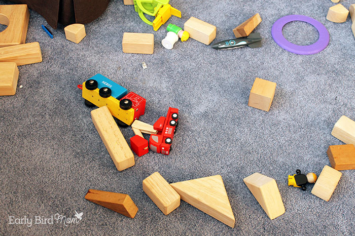 toys on the floor in messy home
