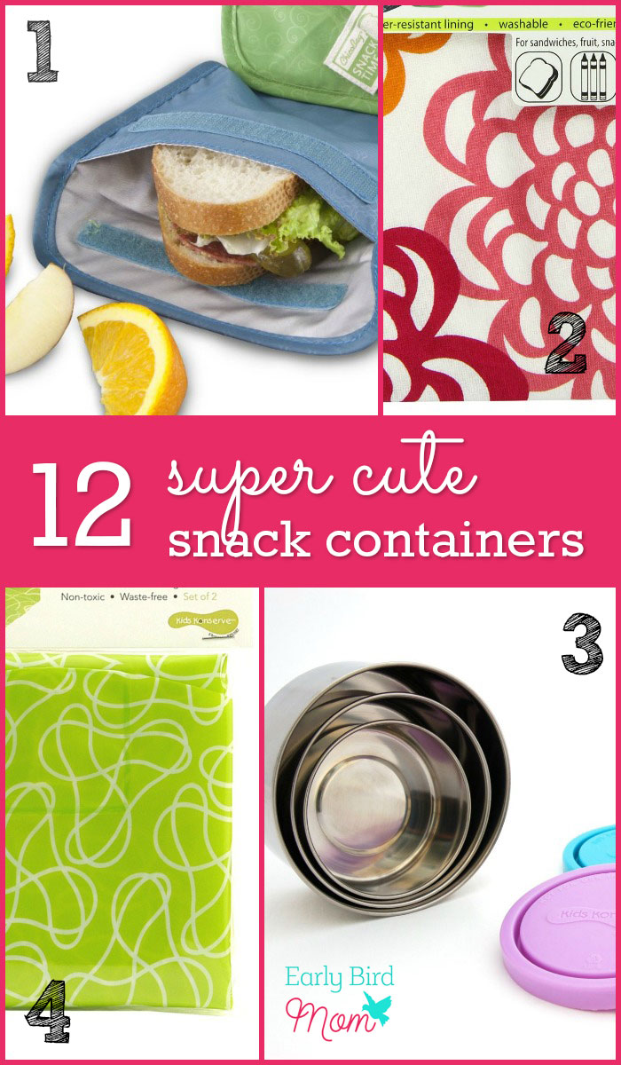Packing snacks makes healthy eating much more convenient when you're on the go. Especially if you're gluten free or clean eating, it's critical to be prepared with food that works with your diet. I love ideas for cute snack containers for babies, toddlers, kids and adults! I think #5 is too cute!