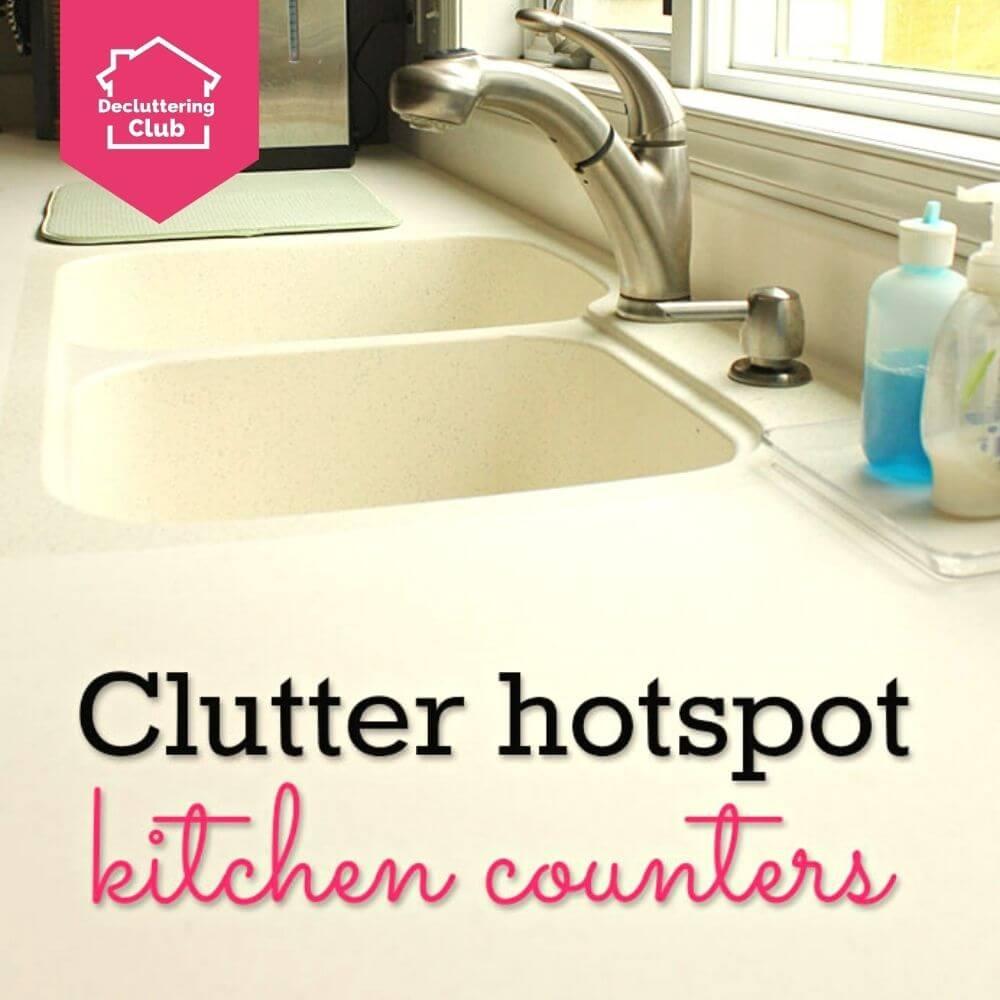 kitchen counter clutter hotspot cover