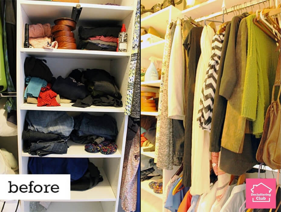 closet organization before and after 1