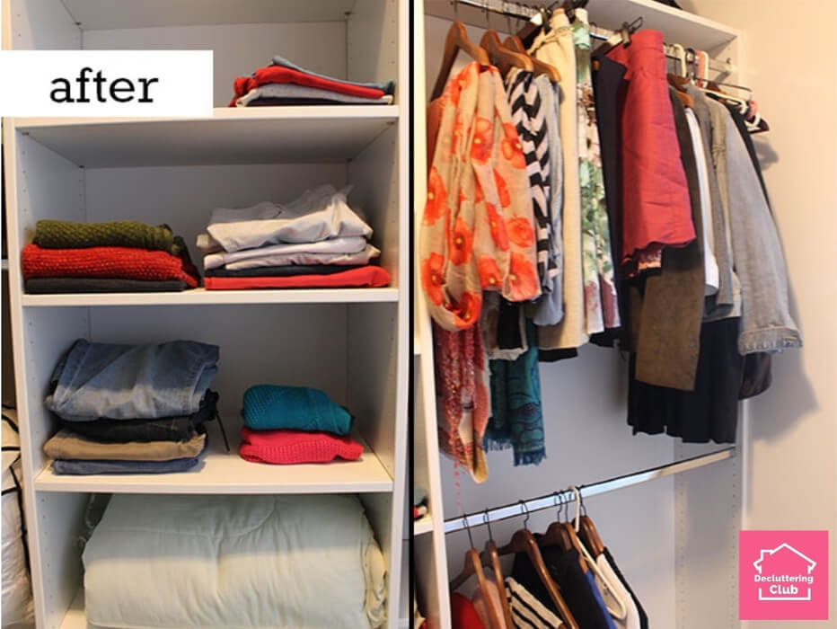 closet organization before and after 2