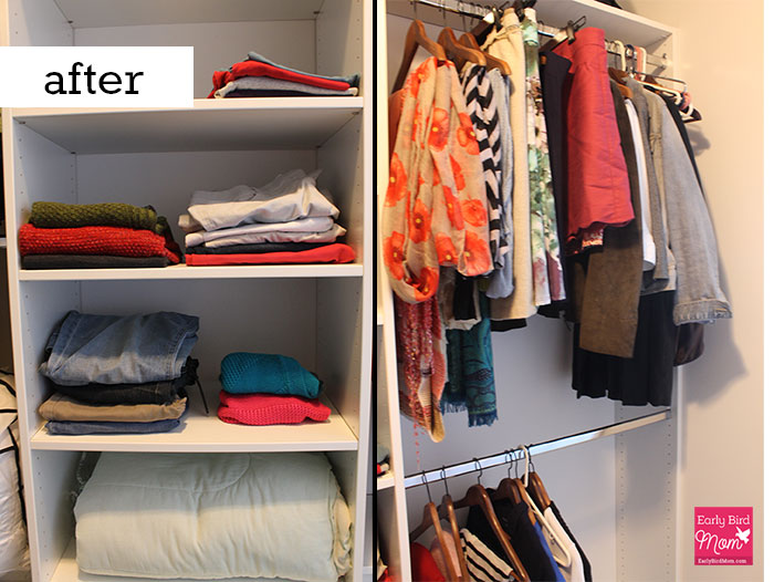 How to declutter your closet and have something left to wear for How to organize your room and closet