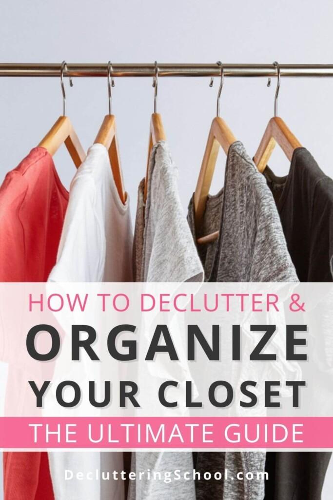 declutter and organize closet guide