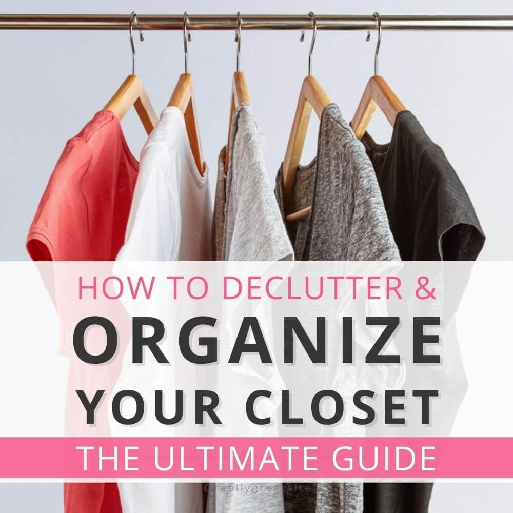 declutter organize closet guide cover