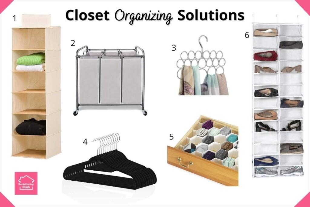 easy closet organizing solutions