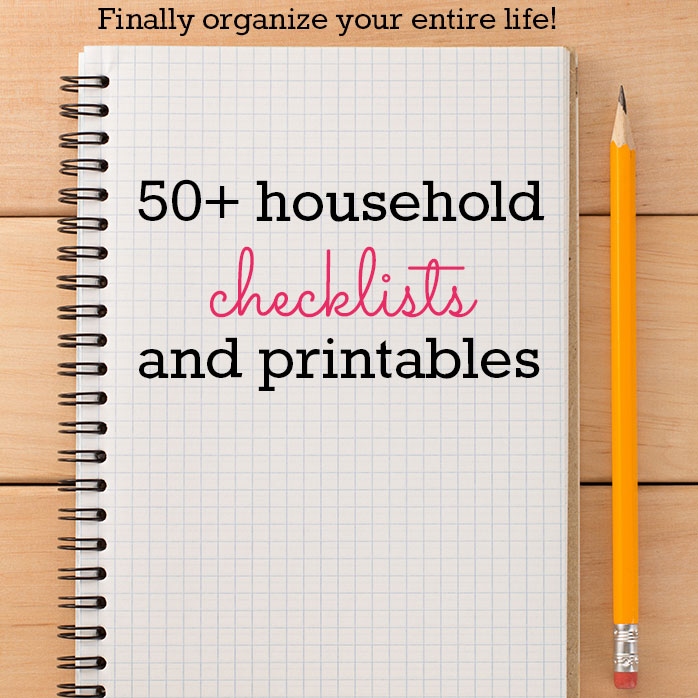 50+ Household Checklists and Printables (Mostly Free!) - Early Bird on planner envelope, planner bags, planner book, planner calendar, planner bookmark, planner ruler,