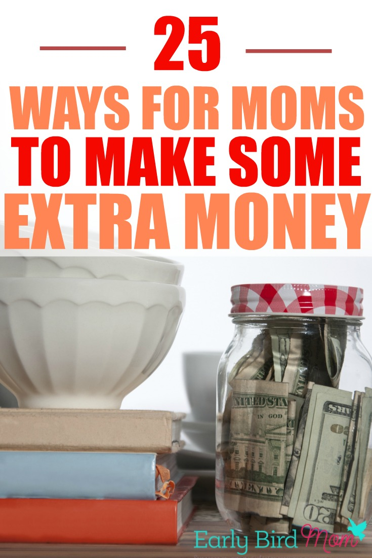 If you're looking for ideas on how to make money from home, see this list of 25 different ideas, specifically for stay-at-home moms.
