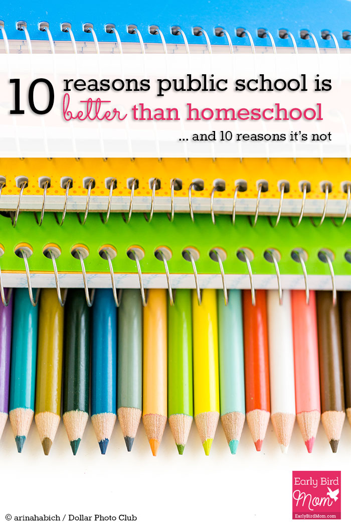 Which is better? Public school or homeschooling? This post provides a thoughtful discussion of public school vs homeschooling from a veteran homeschool mom of 4. Come and weigh the pros and cons for yourself. I never thought of #4!