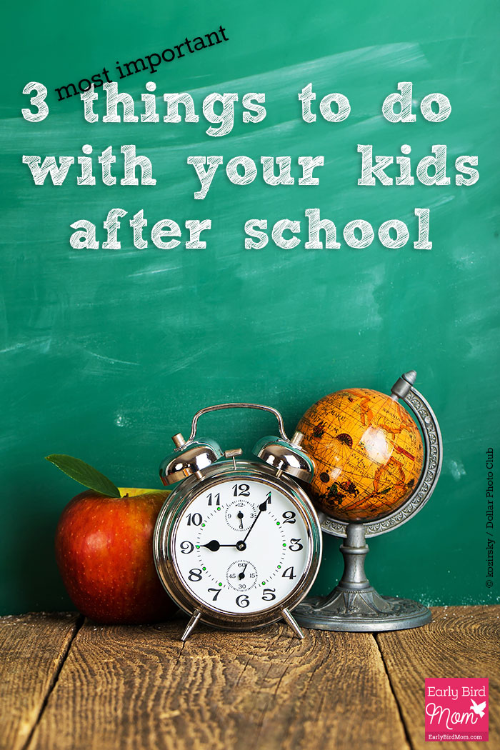 Do you know the 3 most important things to do with your kids after school each day? It takes just a few minutes but these things are incredibly important.