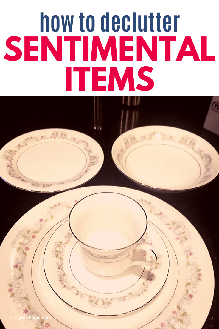 Tips for decluttering the more difficult sentimental items in your home.