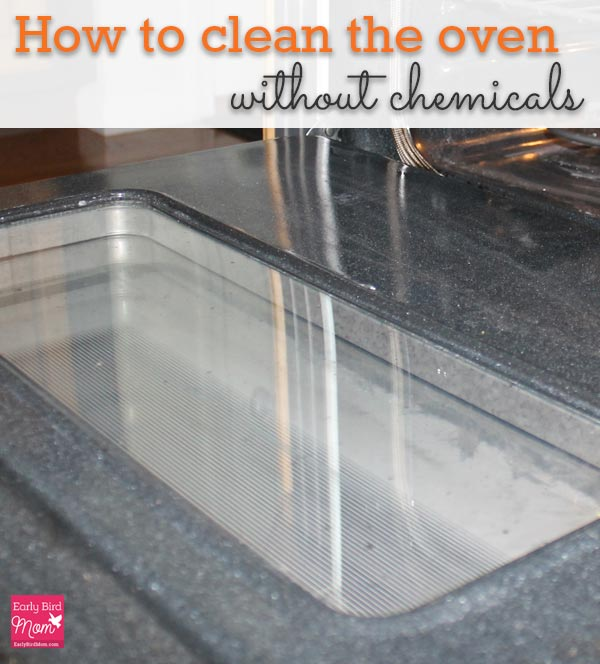how to clean a gas oven without chemicals