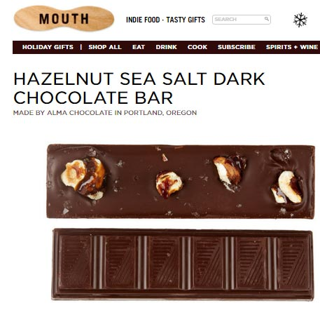 Hazelnut sea salt dark chocolate - just one of ten gift ideas that are sure to please anyone on your Christmas shopping list. Adults and kids alike!