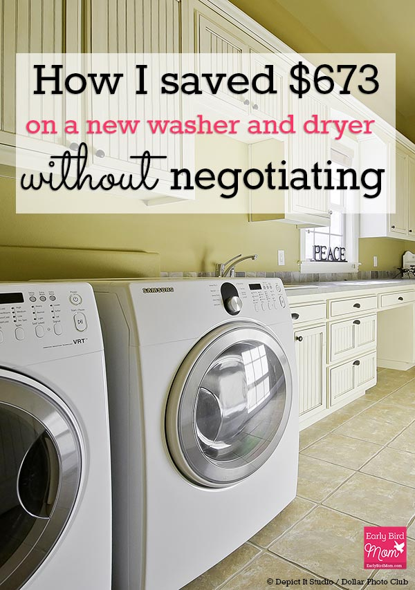 If you're shopping for a new washer and dryer or other appliances, use these money saving tips to get the best deal when you buy. We saved $673!