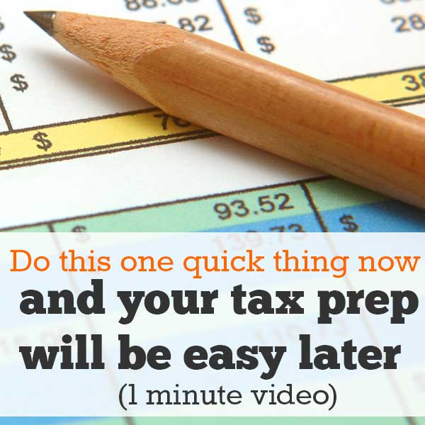 How to get organized for tax time: quick video