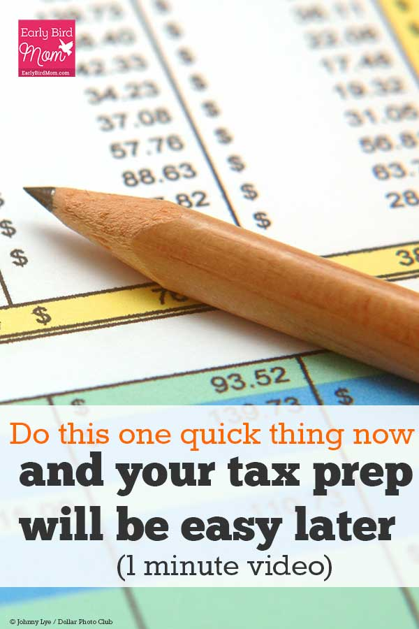 Does gathering up your tax paperwork fill you with dread? Do this one quick thing and you'll have everything you need right when you need it. Watch this 1 minute video for an easy way to get organized with your taxes. Whether or not you know how to do your taxes, everyone should be following a system like this.